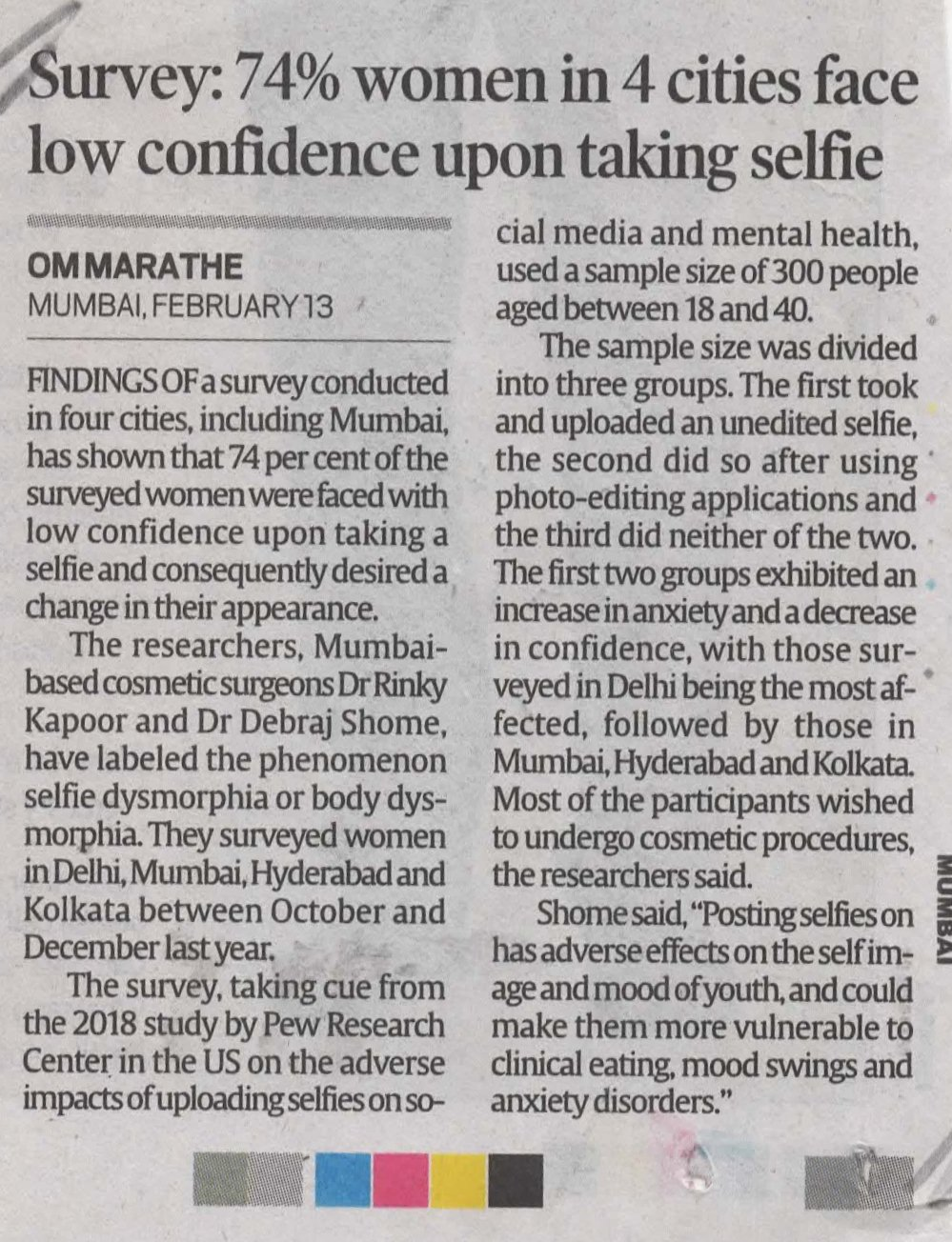 74% women in 4 cities face low confidence upon taking selfie - Indian  Express