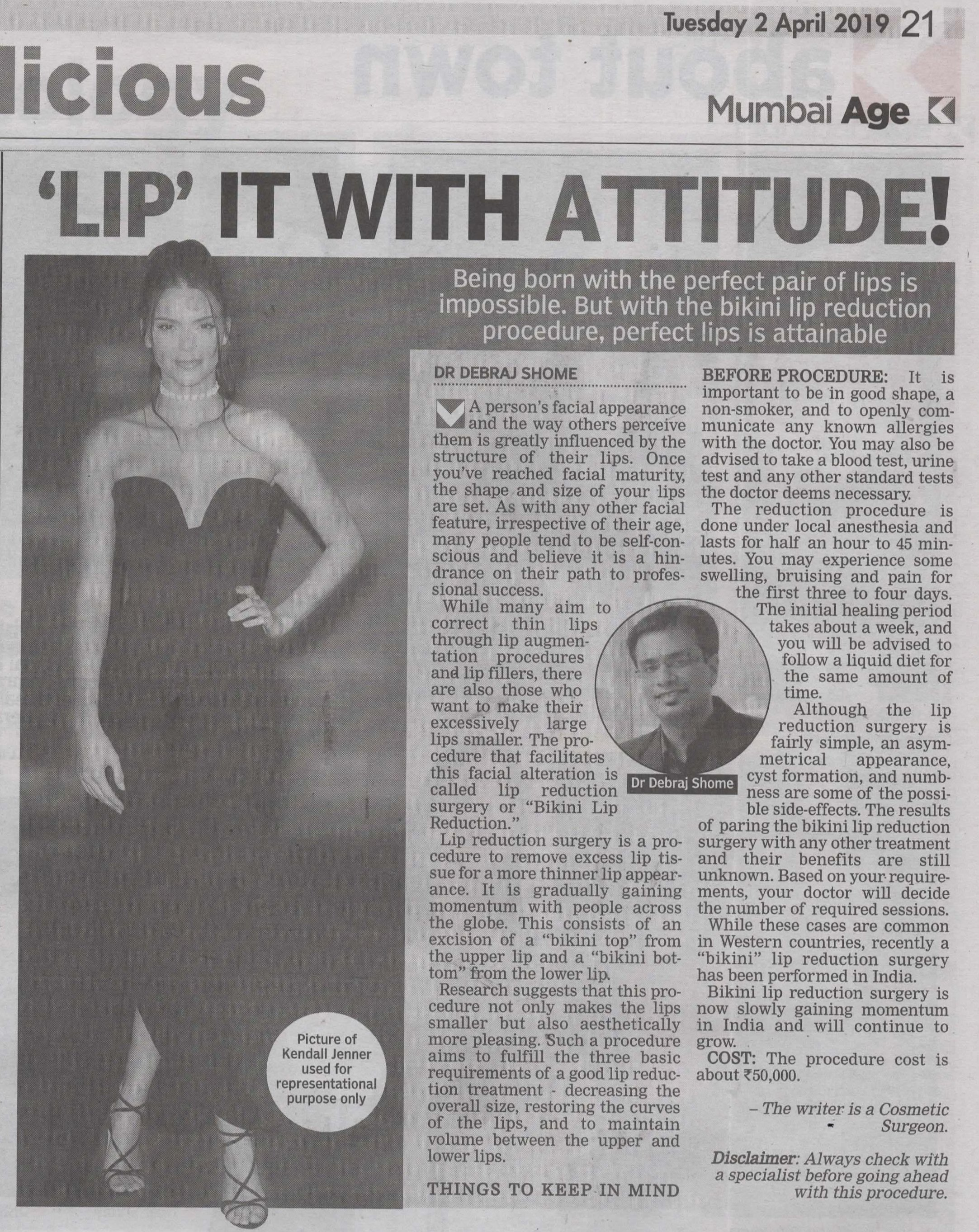 Bikni Lip - Asian Age & Deccan Chronicle